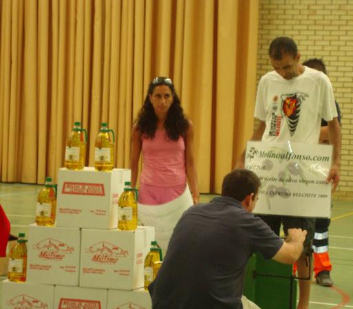 Su peso en Aceite de oliva, premio de la Desértica Extrema