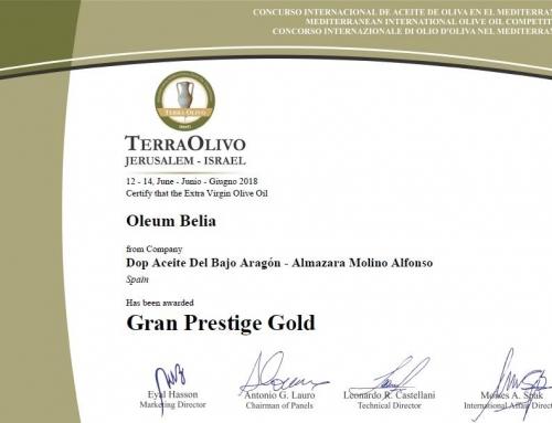 Nuevo éxito de Molino Alfonso en la edición 2018 de Terraolivo, Jerusalén.